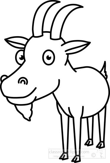 372x550 Goat Black White Outline.jpg Clip Art Outlines