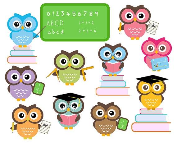 570x460 Smart Owl Clip Art