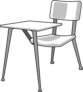 270x298 Furniture School Desk Clip Art