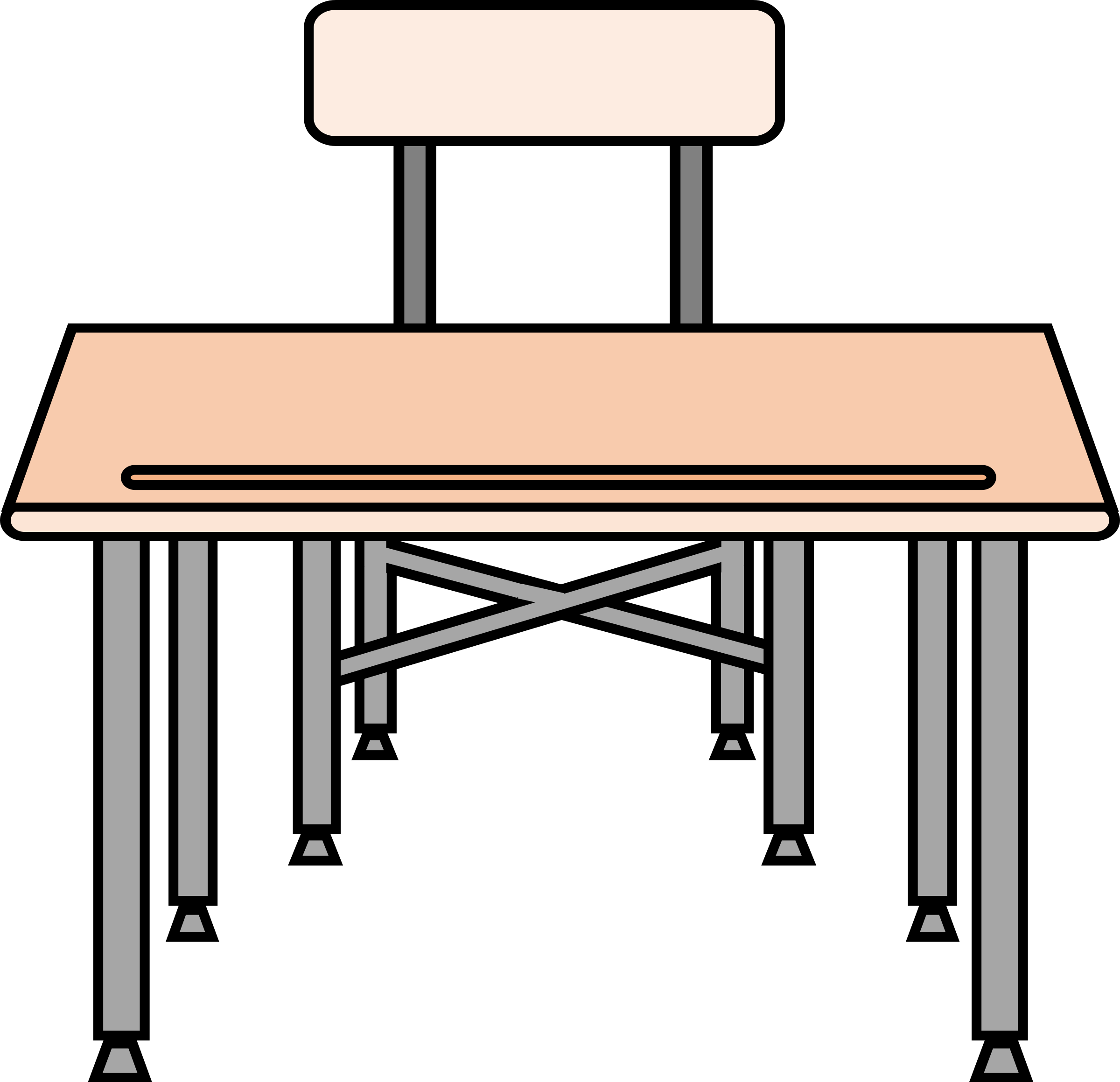 2400x2319 School Desk Clipart