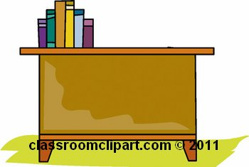 350x235 Teacher Desk Clipart