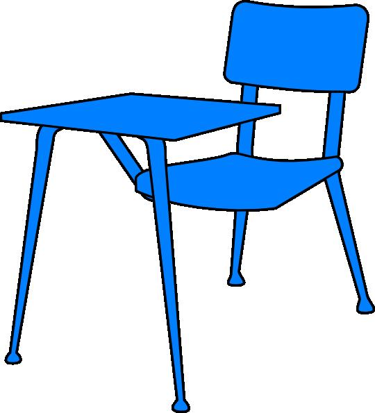 540x595 Blue Desk Clip Art