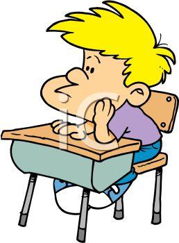 258x350 Bored Schoolboy Sitting