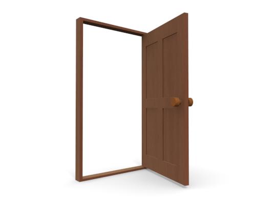 500x400 Open Door Clip Art