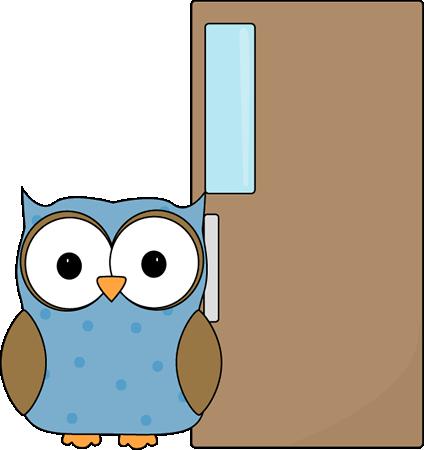424x450 Owl Door Holder Clip Art