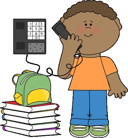 416x450 Boy Classroom Phone Monitor Clip Art