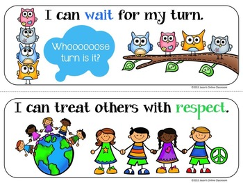 350x263 Illustrated I Can Statement Classroom Rules By Jason's Online