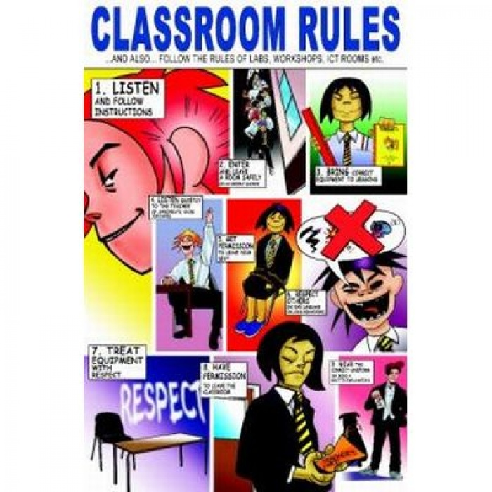 700x700 Classroom Rules Poster By Martin Baines Sports Supports