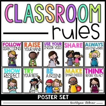 350x350 Classroom Rules Posters Classroom Rules, Students And Classroom