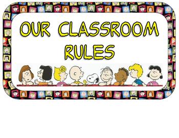 350x271 Classroom Rules Signagepeanuts Gang Ed. By Mr Cs First Grade Fun