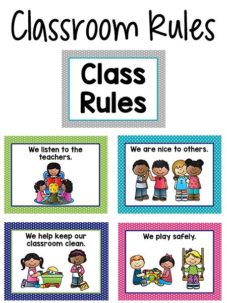 450x600 Pre K Classroom Rules
