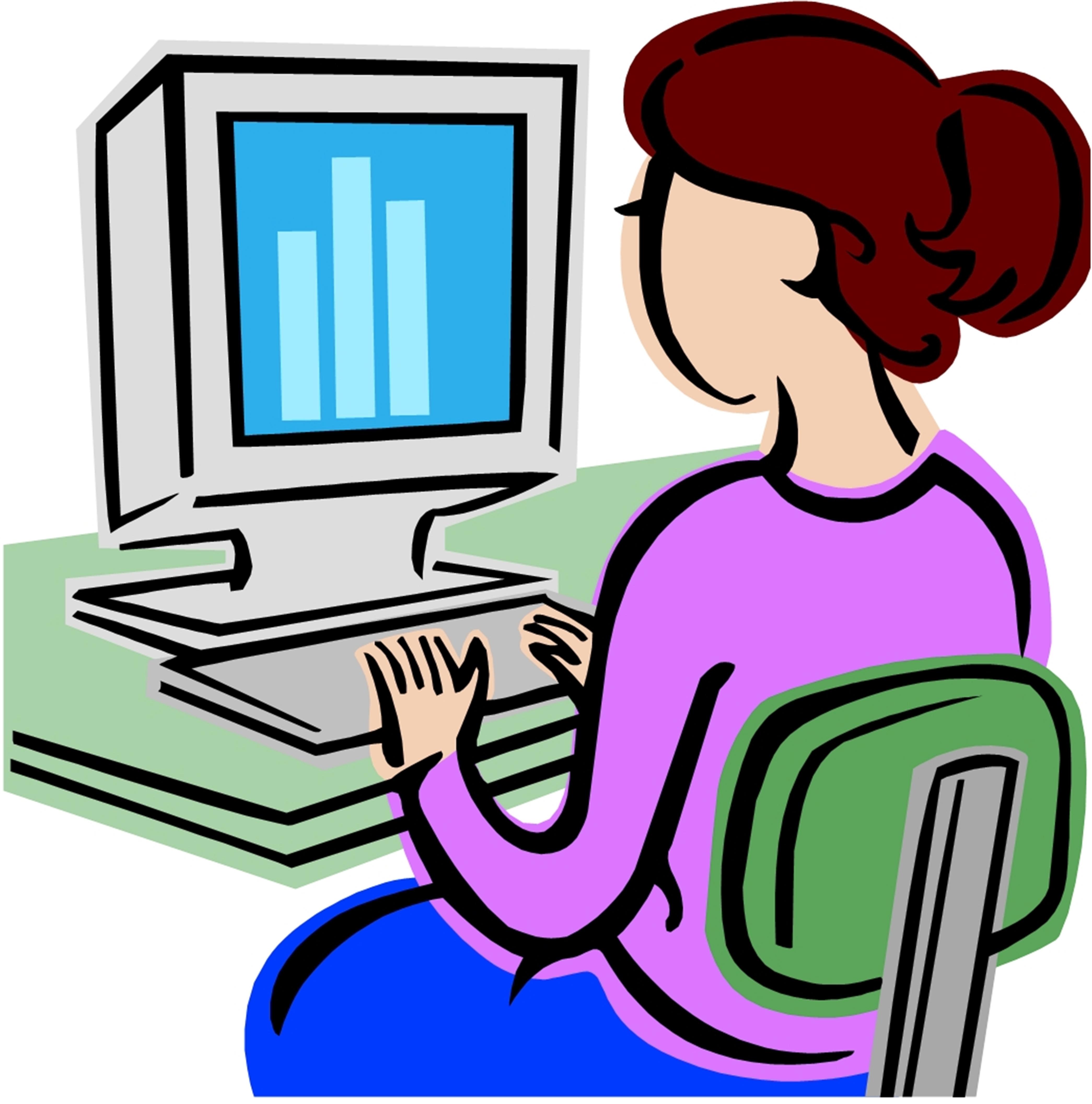 4180x4228 Classroom Computer Clipart