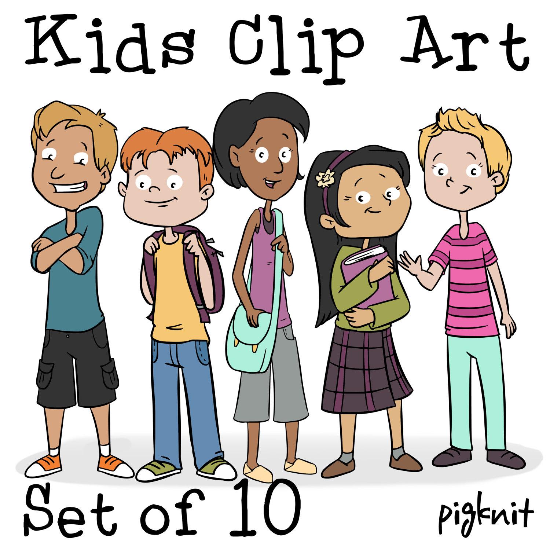 1500x1500 Kids Clip Art Png, Cartoon Kid Download, Middle School Clip Art