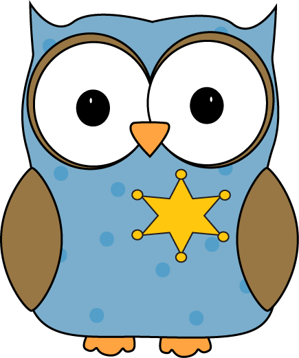 435x521 Owl Classroom Sheriff Or Monitor Clip Art