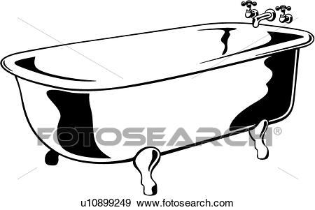 450x301 Bath Tub Clipart
