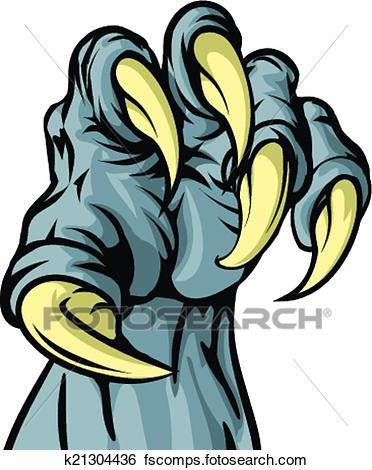 372x470 Clip Art Of Monster Animal Claw K21304436