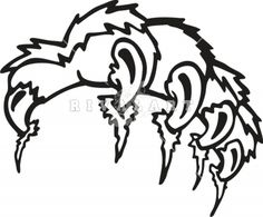236x195 Mascot Clipart Image Of Animal Claws Tearing Ar39 Claw 01 Rq
