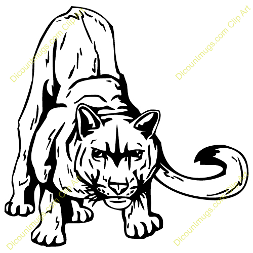 500x500 Mountain Lion Clipart Cougar Claw