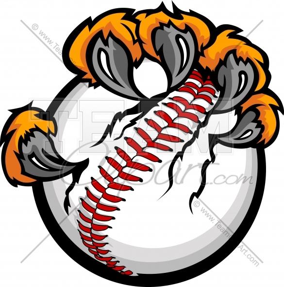 585x590 Tiger Claws Baseball Clipart And More Baseball Mascots.