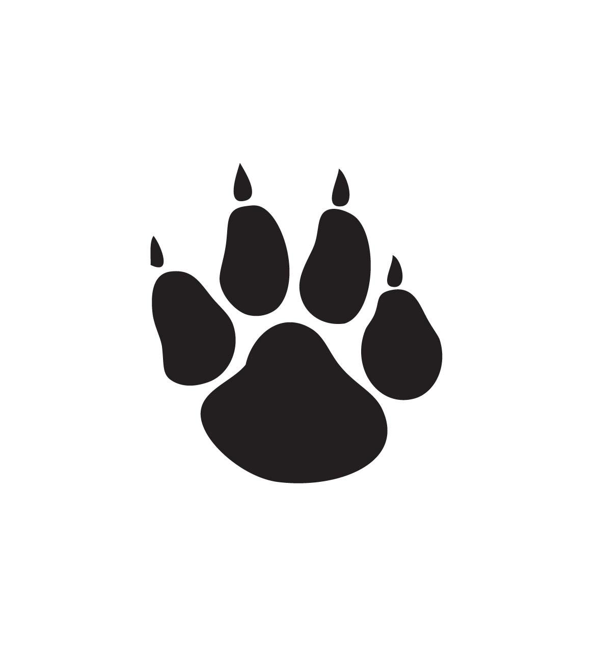 1174x1282 Wildcat Paw Print Clip Art Clipart Panda