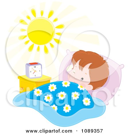 450x470 Clay Sculpture Clipart Sleepy Alarm Clock Yawning And Holding