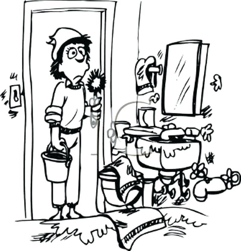 800x836 Bathroom Clipart Clip Art Of Bathroom Of Bathroom Doodle