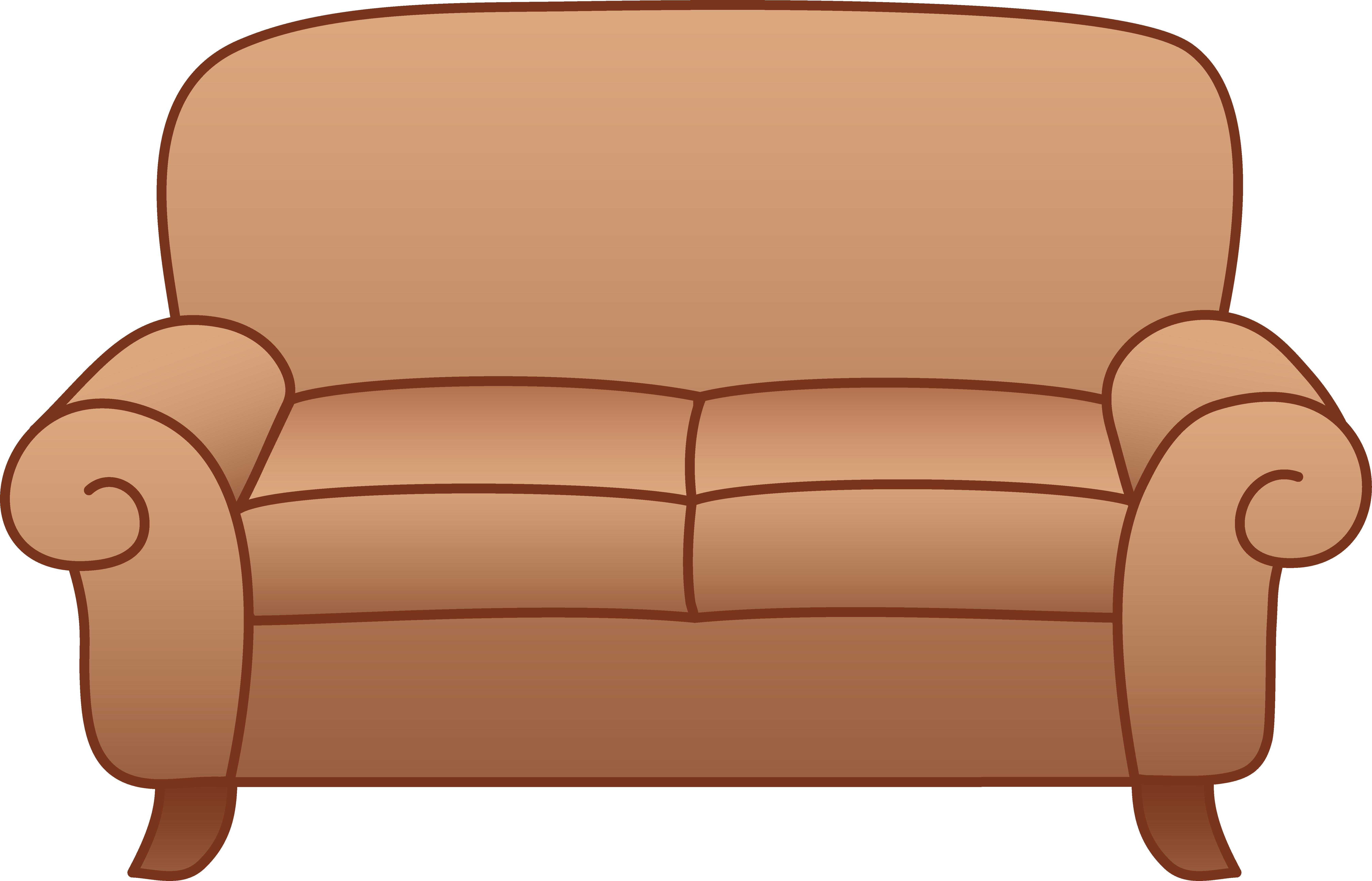 6947x4462 Beige Living Room Sofa Free Clip Art
