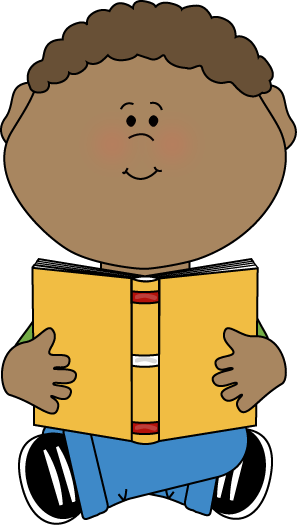 297x525 Boy Sitting With Book Clip Art