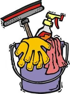 225x300 Free Clipart House Cleaning