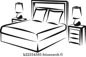 293x194 Bedroom Clipart And Illustration. 9,746 Bedroom Clip Art Vector