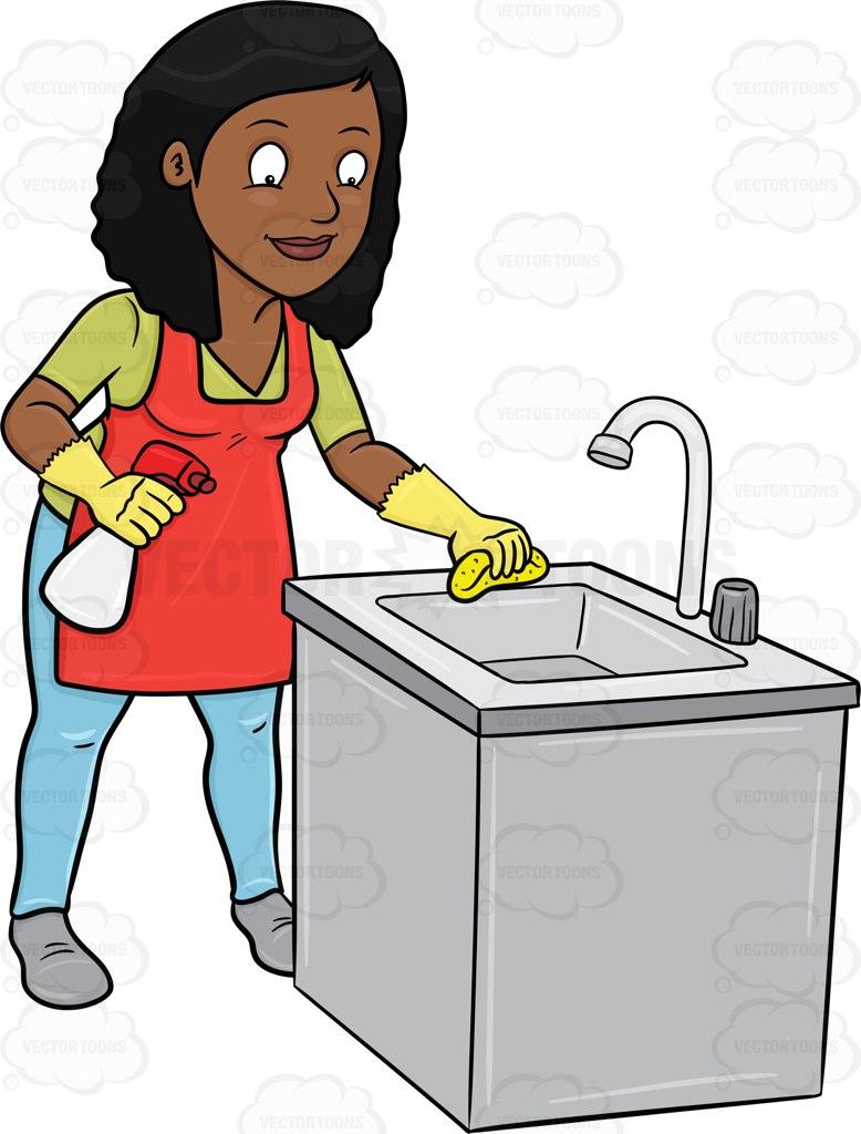 Sparkling Clean Kitchen Clipart
