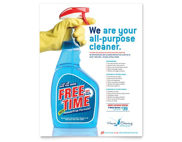 610x477 10 Best Cleaning Flyers Images Business Marketing