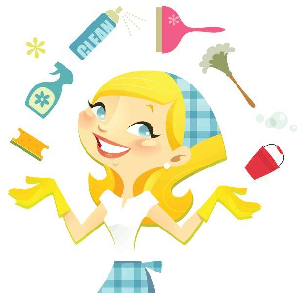 618x600 Cartoon House Cleaning Clip Art