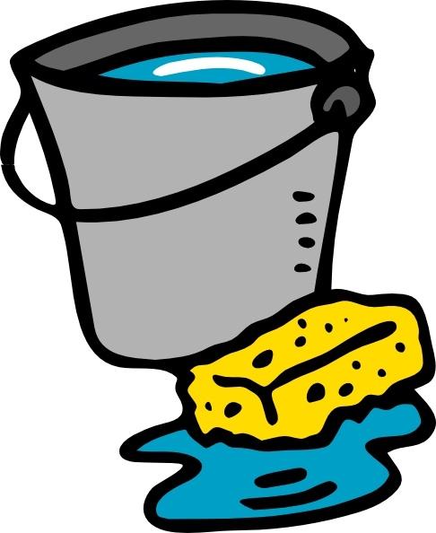 486x594 Cleaning Bucket Sponge Water Clip Art Free Vector In Open Office