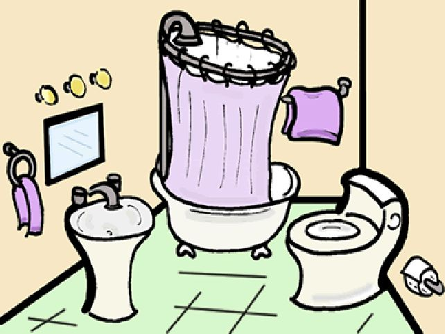 642x482 Mirror Clipart Cleaning Bathroom