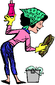 187x285 Cartoon Cleaning Lady Clipart