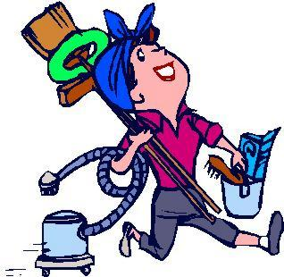 318x310 Cleaning Lady Cartoon