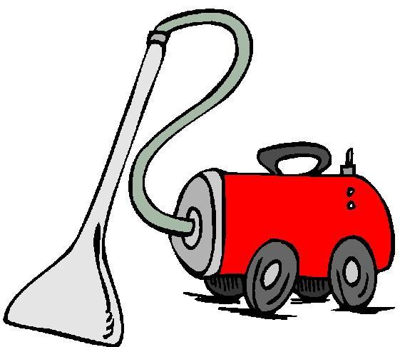 561x486 Cartoon Vacuum Cleaner Clipart