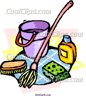 284x317 Cleaning Supplies Clipart