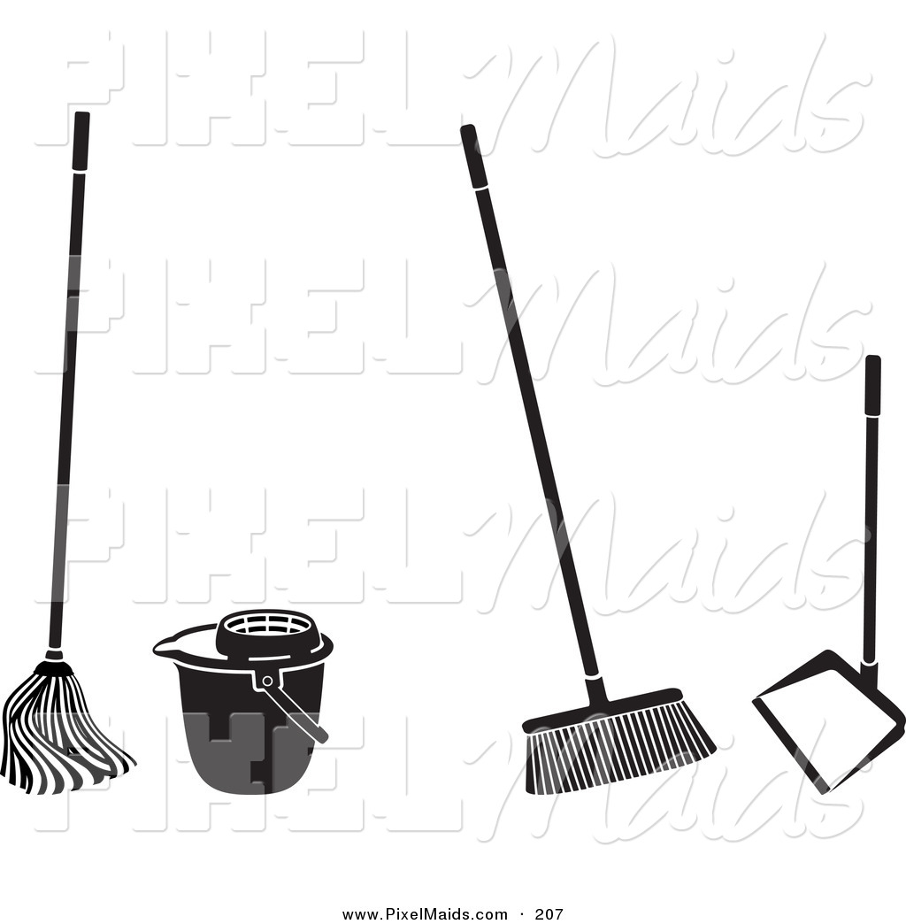 1024x1044 Clipart Of A Digital Set Of Cleaning Tools By Frisko