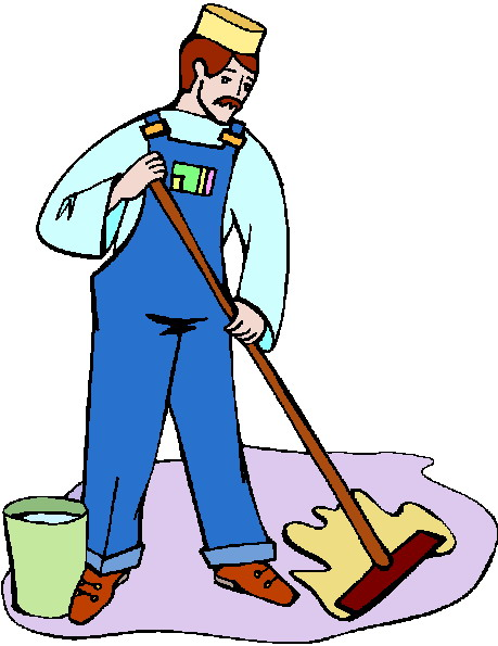 459x595 School Janitor Clipart