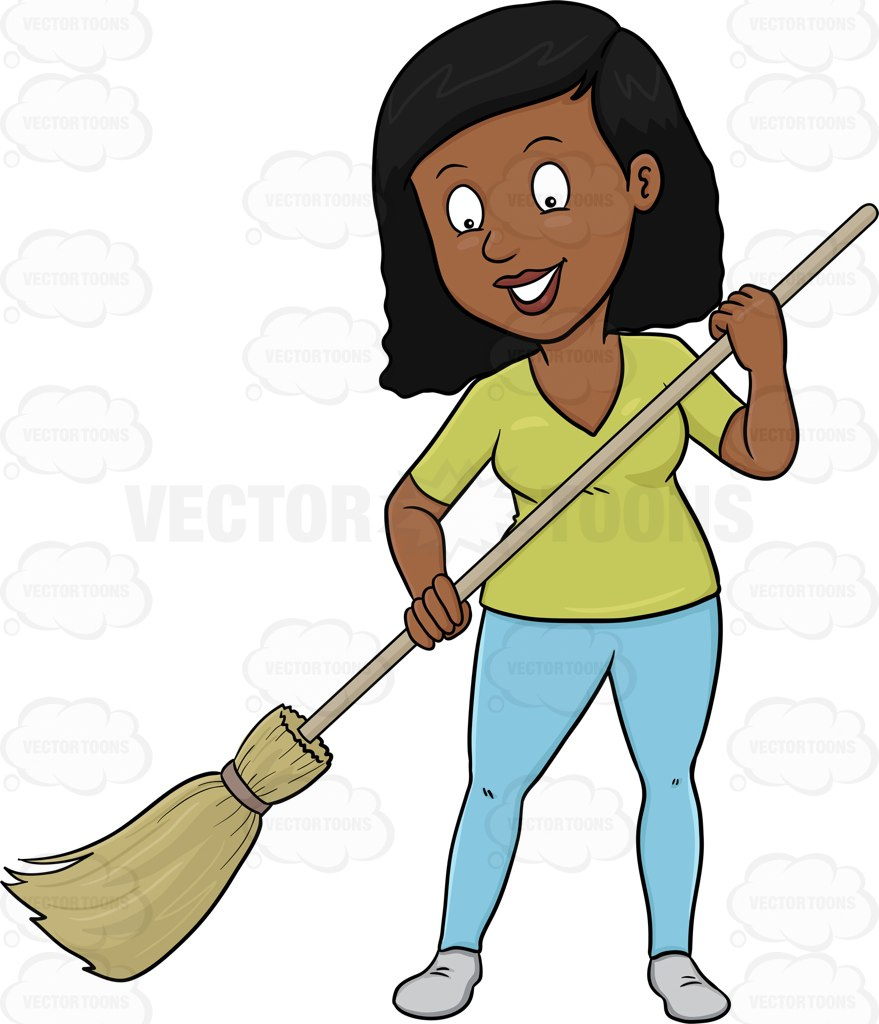 Cleaning Woman Clipart