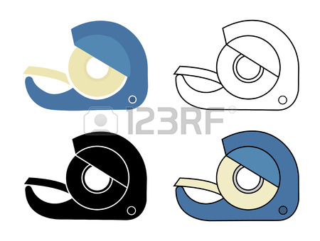 450x340 Clear Tape Isolated On A White Background Royalty Free Cliparts