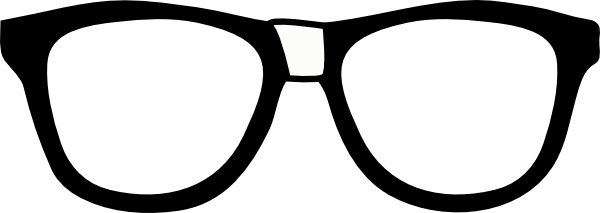 600x213 Nerd Glasses With Tape Clipart