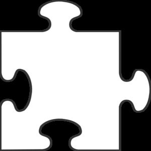 300x300 White Border Puzzle Piece Top Clip Art