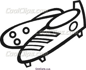 300x244 Soccer Cleats Vector Clip Art
