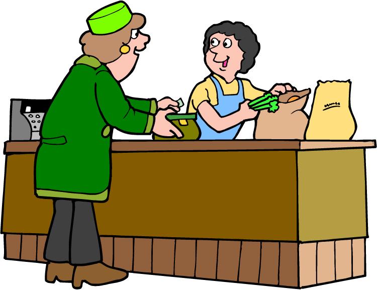 Sales Clerk Clipart