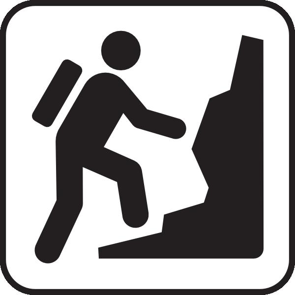 600x600 Hill Climbing White Clip Art