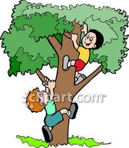 261x300 Little Girl Clipart Climbing Tree