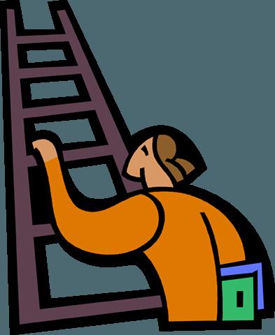 393x480 Man Climbing Ladder Royalty Free Vector Clip Art Illustration